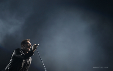 U2's Bono performs during the 360 Degree Tour in Seville